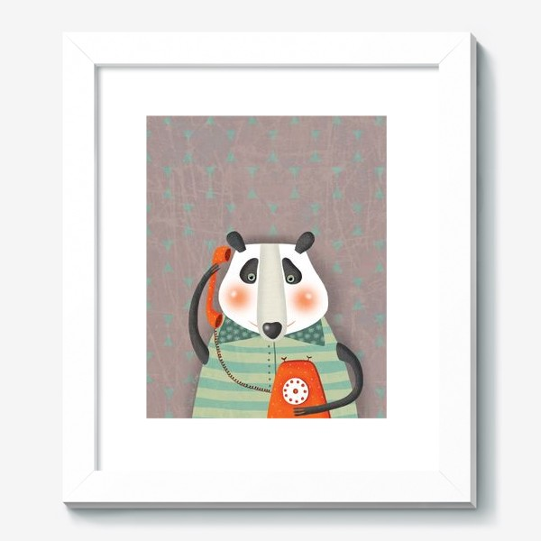 Картина «Панда с телефоном»