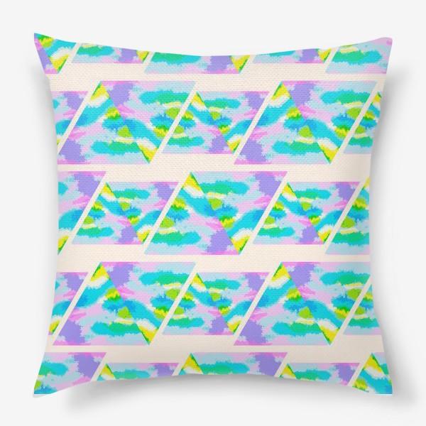 Подушка «Акварельная геометрия»