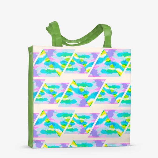 Сумка-шоппер «Акварельная геометрия»