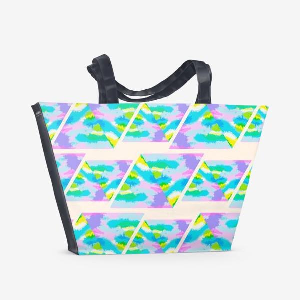 Пляжная сумка «Акварельная геометрия»