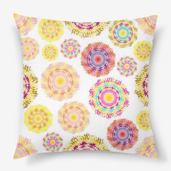 Подушка «Разноцветные абстрактные круги 2»