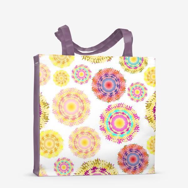 Сумка-шоппер «Разноцветные абстрактные круги 2»