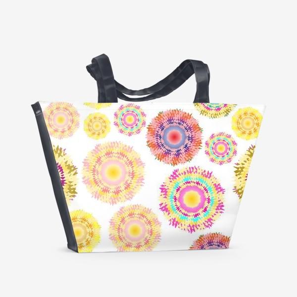 Пляжная сумка «Разноцветные абстрактные круги 2»