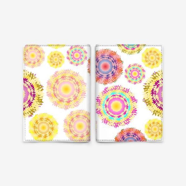 Обложка для паспорта «Разноцветные абстрактные круги 2»