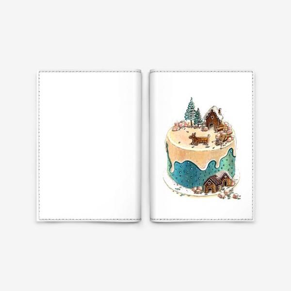 Обложка для паспорта «НОВОГОДНИЙ ТОРТ»