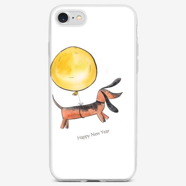 Чехол iPhone «Такса с шариком»