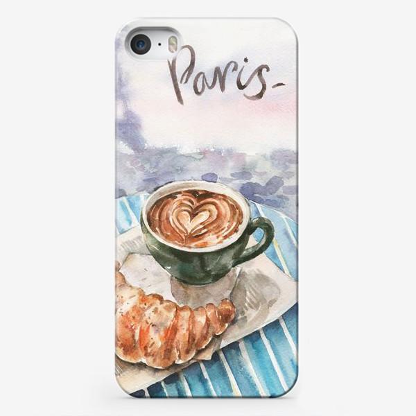 Чехол iPhone «Кофе с круассаном в Париже»