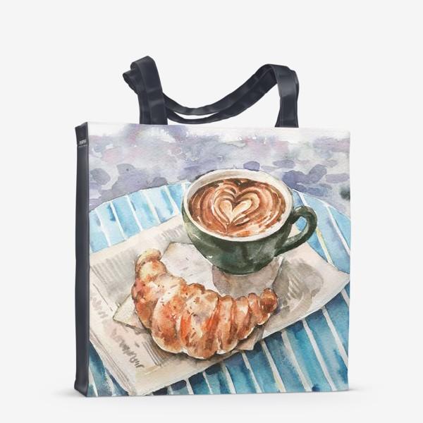 Сумка-шоппер «Кофе с круассаном в Париже»