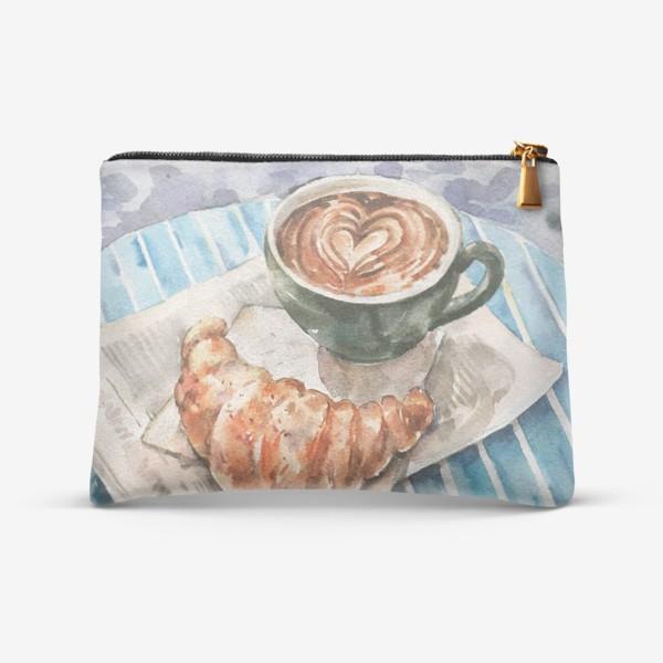 Косметичка «Кофе с круассаном в Париже»