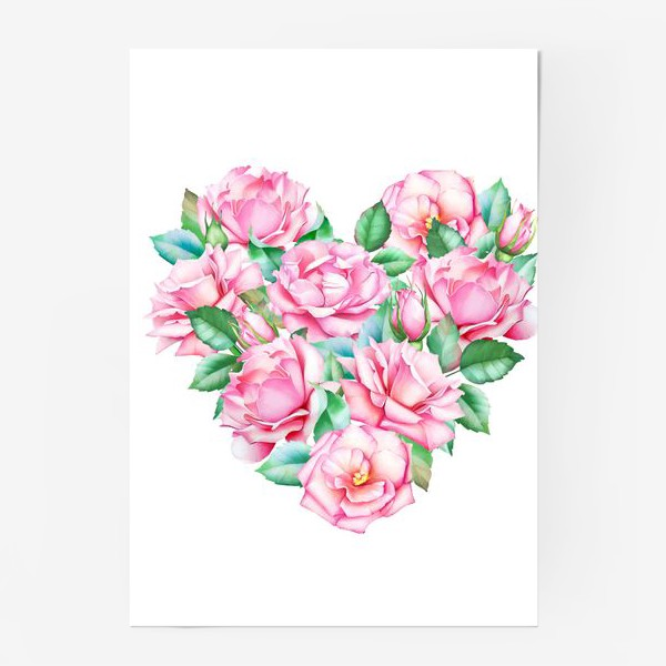 Постер «Розовое сердце»