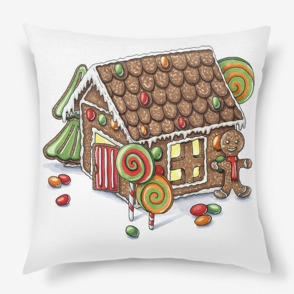 Подушка «Пряничный домик»