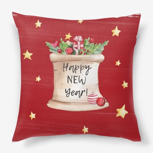 Подушка «Новогоднее послание»
