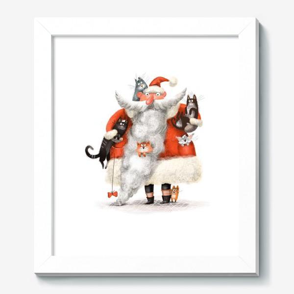 Картина «Санта Клаус и котики»