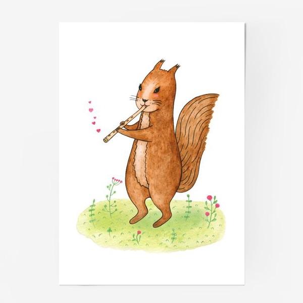 Постер «Белка с дудочкой»