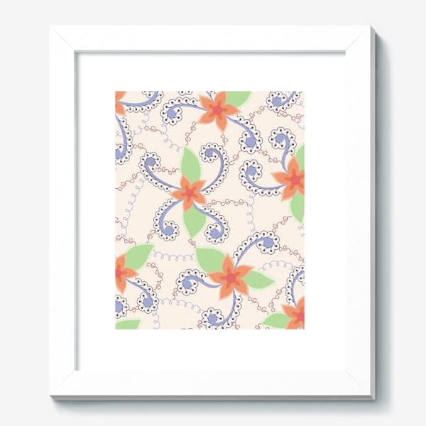 Картина «Абстрактные винтажные цветы»