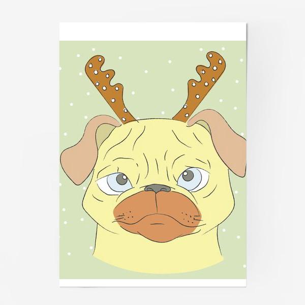 Постер «Рождественский мопс»