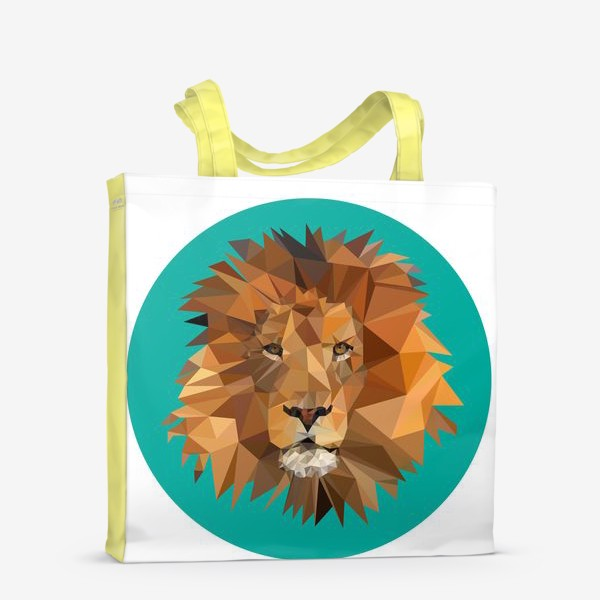 Сумка-шоппер «Полигональный лев»