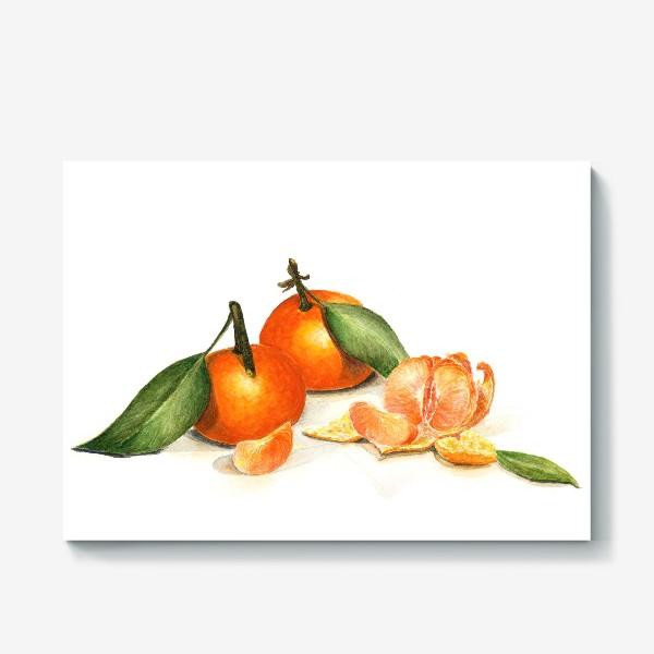 Холст «Сочные мандарины»