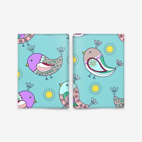 Обложка для паспорта «Птички-невилички»