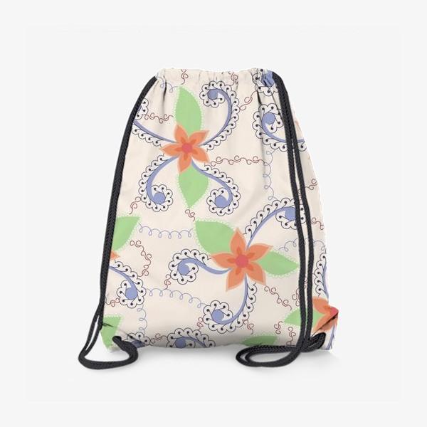 Рюкзак «Абстрактные винтажные цветы»