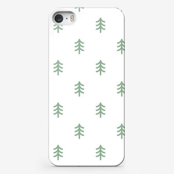 Чехол iPhone «Паттерн с минималистичными ёлочками»