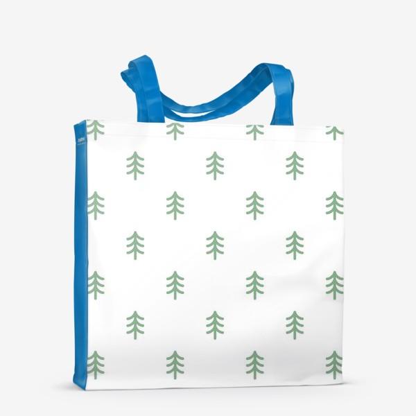 Сумка-шоппер «Паттерн с минималистичными ёлочками»