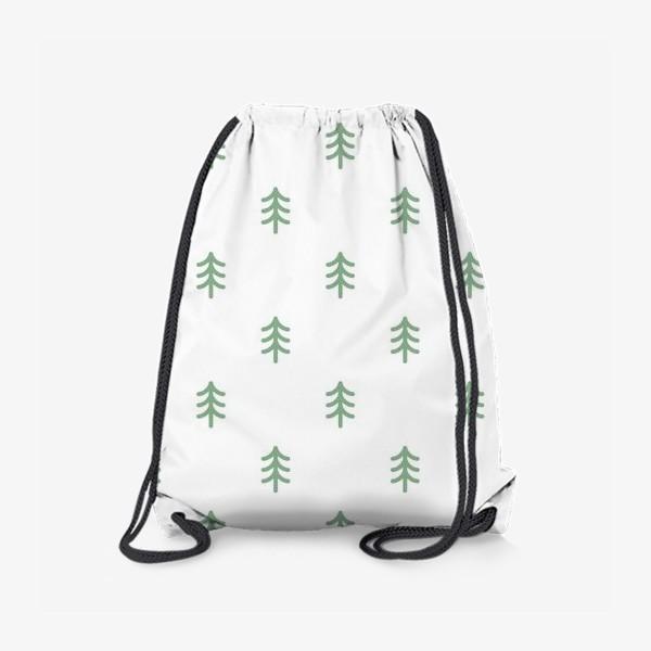 Рюкзак «Паттерн с минималистичными ёлочками»