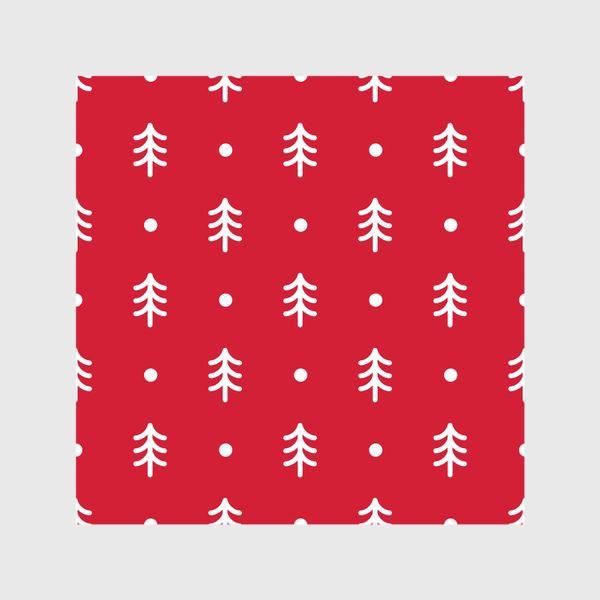 Шторы «Новогодний паттерн с минималистичными ёлочками»
