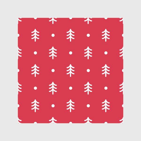 Скатерть «Новогодний паттерн с минималистичными ёлочками»