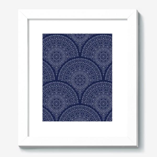 Картина «Синий узор с мандалами»