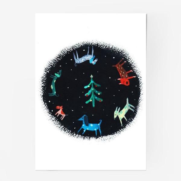 Постер «Собаки новогодние»