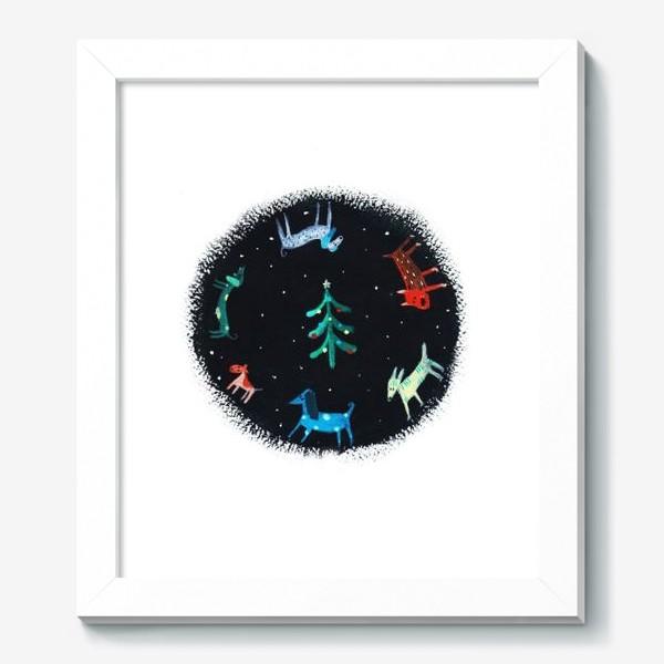 Картина «Собаки новогодние»