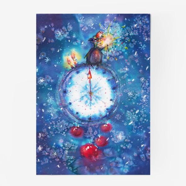 Постер «Новогодние часы»
