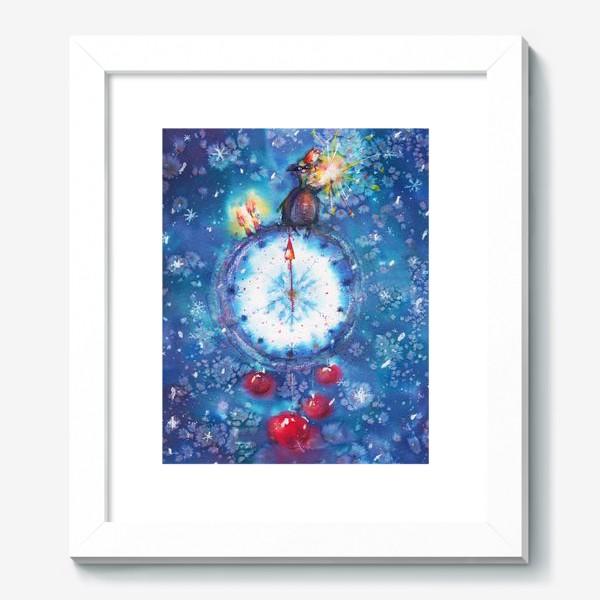 Картина «Новогодние часы»