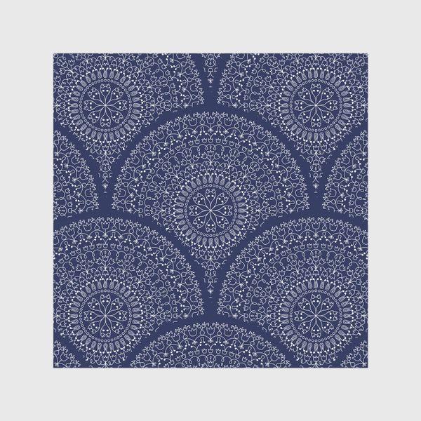 Скатерть «Синий узор с мандалами»