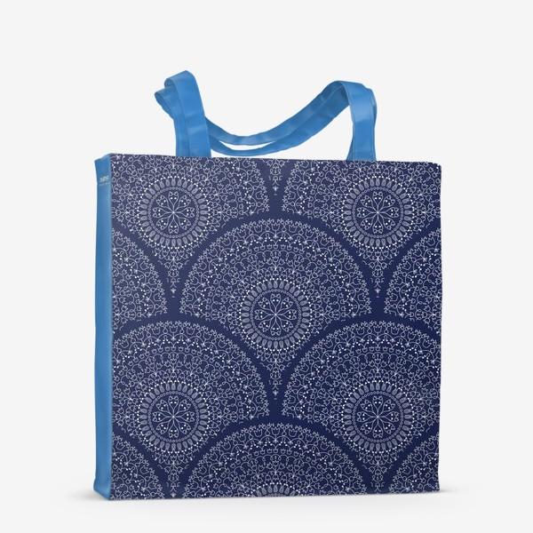 Сумка-шоппер «Синий узор с мандалами»