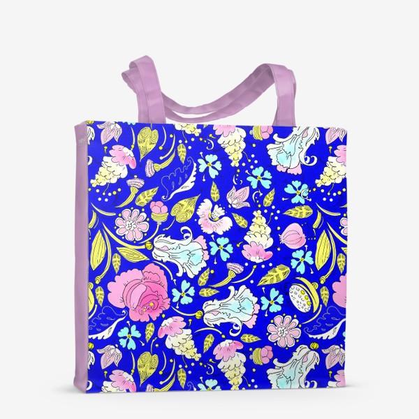 Сумка-шоппер «Пышные цветы»