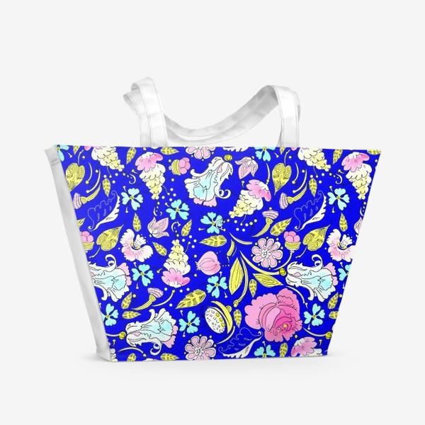 Пляжная сумка «Пышные цветы»