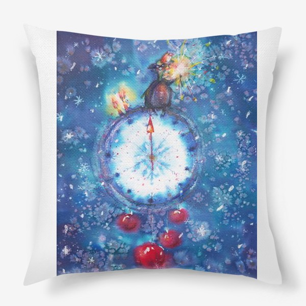 Подушка «Новогодние часы»