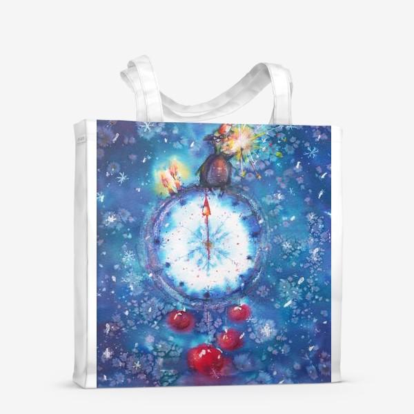 Сумка-шоппер «Новогодние часы»