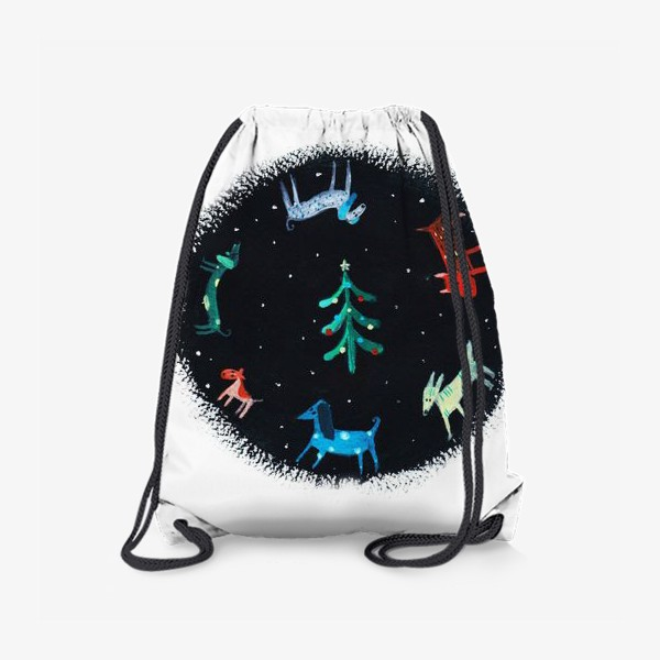 Рюкзак «Собаки новогодние»