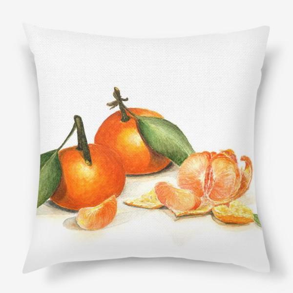 Подушка «Сочные мандарины»