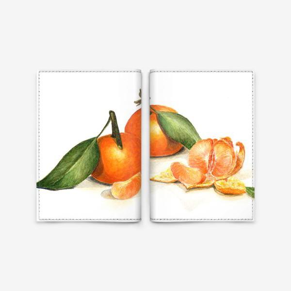 Обложка для паспорта «Сочные мандарины»