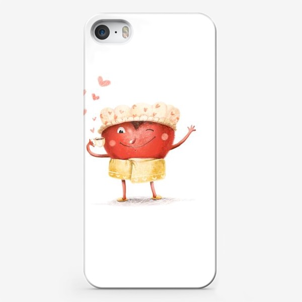 Чехол iPhone «Горячее сердце»