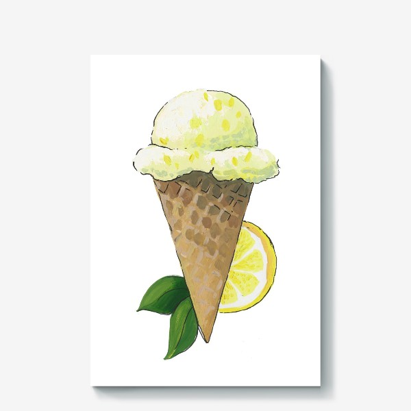 Холст «Лимонное Мороженое»