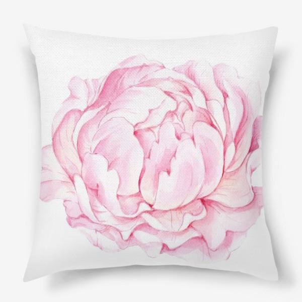 Подушка «Розовый бутон пиона»