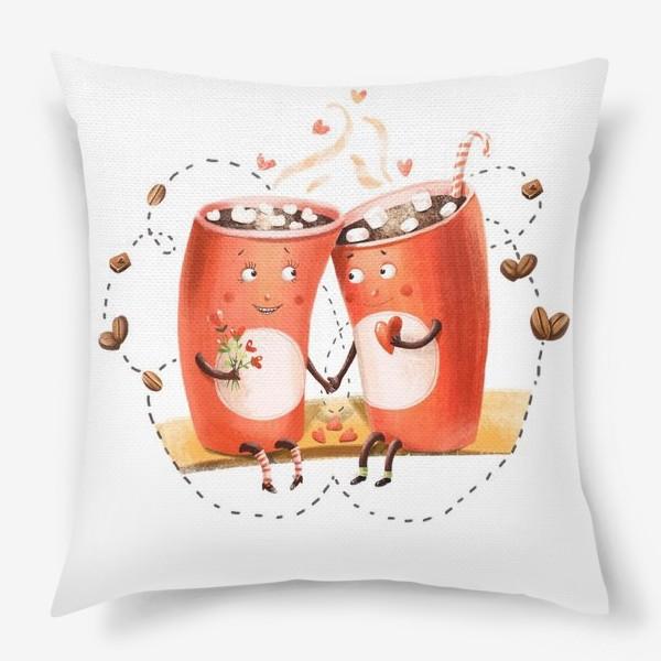Подушка «Любовь и кофе»