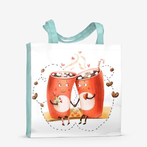 Сумка-шоппер «Любовь и кофе»