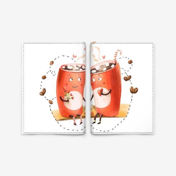 Обложка для паспорта «Любовь и кофе»
