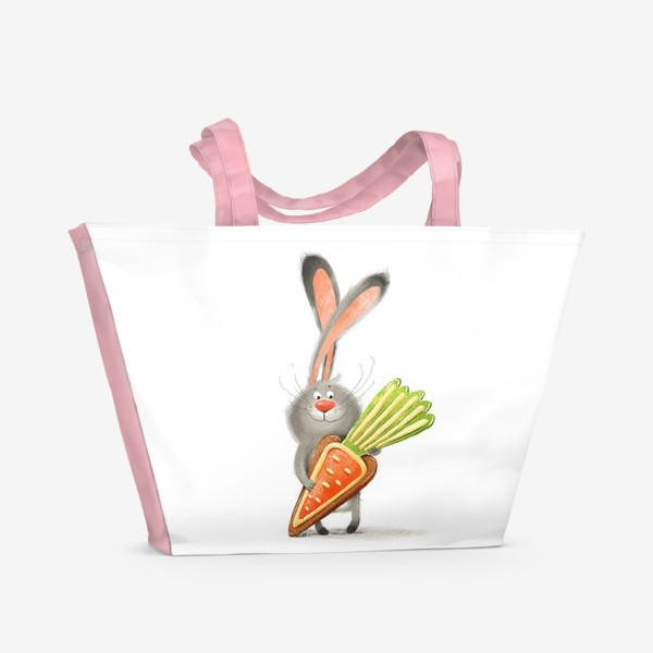 Пляжная сумка «Зайка с печеньем»